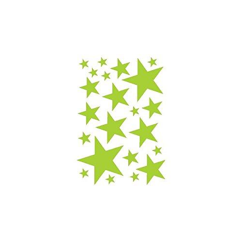 Selbstklebend Kit 22Sticker Stern Ref: A041, Apfelgrün, Kit 40x57 cm