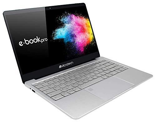 """Microtech e-book Pro N4000 Computer portatile ultrasottile con schermo LCD IPS 14.1"""" da 1920x1080, processore Intel Celeron N4000 a 64 Bit fino a 2.60 GHz, 4 GB RAM, eMMC 32 GB, Win10 Pro"""