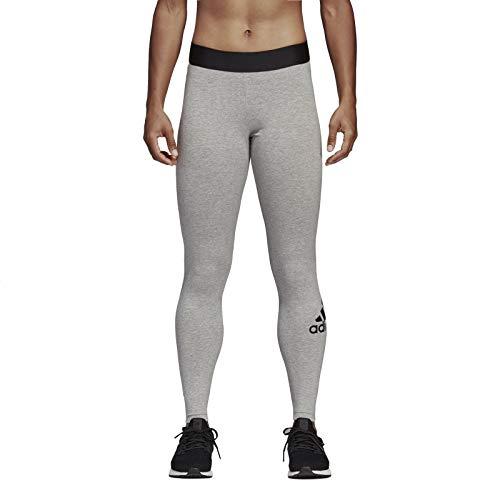adidas Women's Must Haves Badge of Sport Tight, Leggins Donna, Medium Grey Heather/Nero, L 48-50