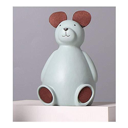 XHAEJ Hucha de resina para niños, diseño nórdico, con forma de animal, grande, de resina, para regalo, 17,2 x 10,5 cm, color B