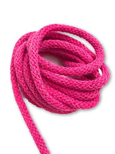 Slantastoffe 5m Kordel 5mm, Schnur, Turnbeutel Freie Farbwahl, 21 Farben (Pink)