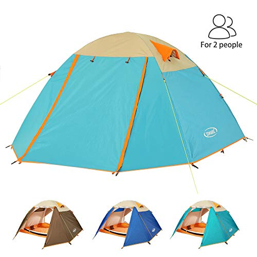 ZOMAKE Leicht Trekkingzelt für 2 Personen Wasserdicht,3-4 Saison Camping Zelt für Trekking,Outdoor,Festival (Blauer See)