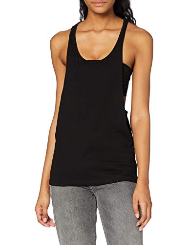Urban Classics TB358 Damen Sport T-Shirt Ladies Loose Tanktop schwarz (Black) Medium