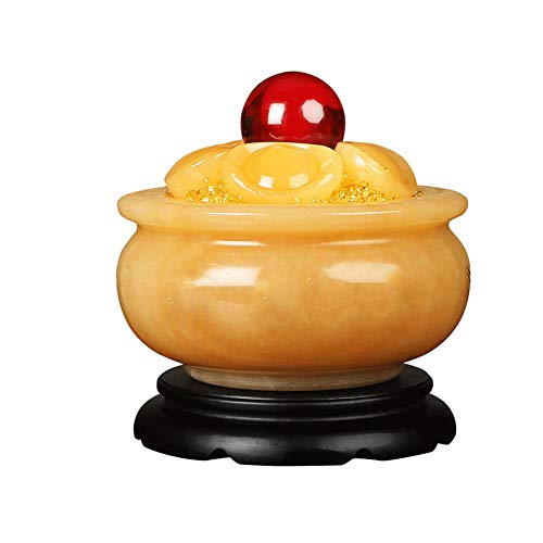 Feng Shui Huang Yu Poast Muñeca Rica con Seis lingotes, Materiales de Resina, Exquisito Grabado, diseñado para atraer Buena Suerte