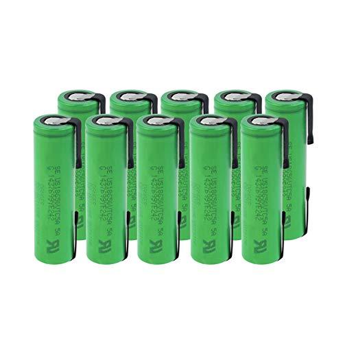 yfkjh 18650 VTC5a - Pilas de litio recargables (3,6 V, 2600 mAh, 35 A, alto consumo, 10 unidades)