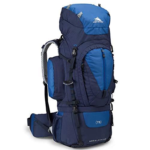 High Sierra Appalachian Top Load Internal Frame Hiking Pack, True Navy/Royal/True Navy, 75-Liter