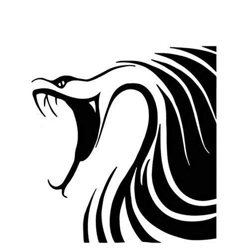 Kllomm 4 Pezzi 14,9 cm * 15,9 cm Disegno del Modello del Serpente Autoadesivo dell'automobile Tronco di Automobile Decalcomania del Vinile Adesivi Moto-Nero