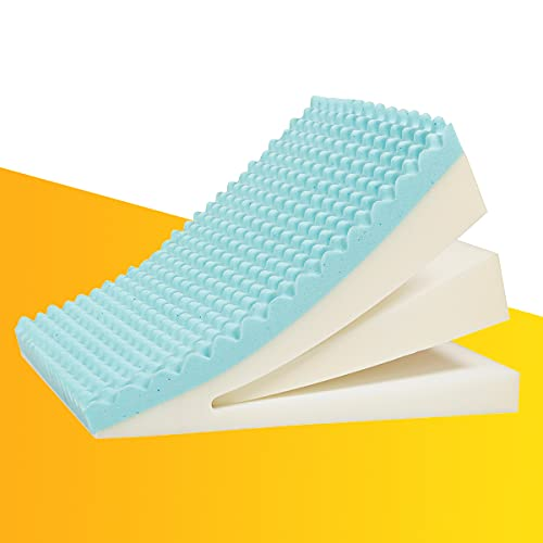 Lofe Bed Wedge Pillow 24x24x12, Multipurpose Adjustable 8&12 Inch, Memory Foam, Machine Washable Bamboo Cover, Backrest&Reading&Leg Elevation Pillow, Acid Reflux, Gerd, Snoring, Apnea, Post Surgery
