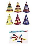 Irpot - Kit 30 Cappellini di Carta Colorati + 30 TROMBETTE di Carta Party