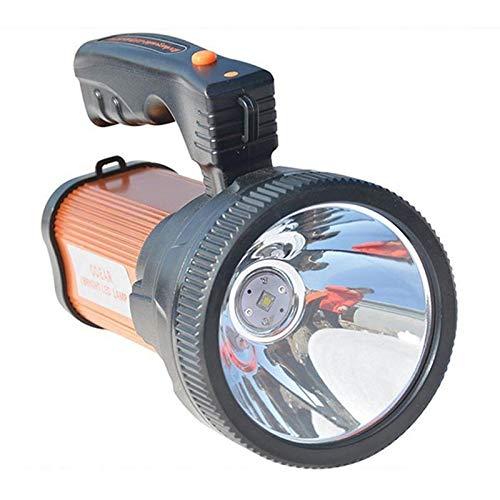 ERCZYO Impermeable Súper Brillante portátil de Mano al Aire Libre USB portátil Linterna Recargable LED Reflector lámpara multifunción de tiros Largos