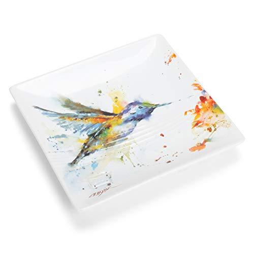 Glossy Stoneware Snack Plates