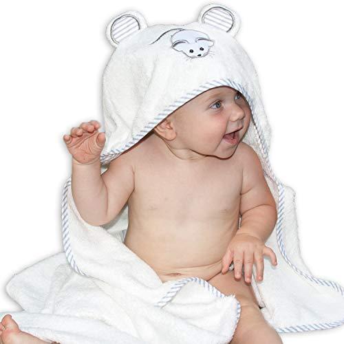 Lujosa toalla de baño para bebé con capucha de Liname - Antibacteriana e hipoalergénica - Extra suave para mantener el bebé calentito y cómodo - Extra grande de 100 x 70 cm para bebés y niños pequeños