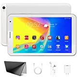 Tablet 8 inch with WiFi, Android 10.0 Tablet PC 3GB RAM 32GB Storage 128GB Expandable 1280X800 HD IPS Display, Quad-Core Bluetooth GPS Tablets (White)