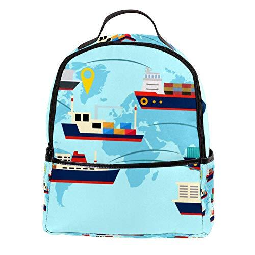 FURINKAZAN Cruise Travel All World - Mini mochila de piel...