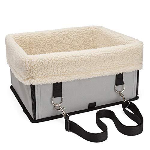 KDXBCAYKI Hondentas voor huisdieren, met lamsvacht, draagbaar, voor honden en katten, lounge, hoekbank, orthopedisch hondenbed, L, Metálico