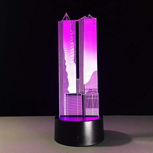 Gebäude 3D Optische Täuschung Touch Farbe 7 Die LED Nachtlicht Schreibtischlampe, Romantische Geschenk Für Liebhaber,Ehefrau,Freund Oder Freundin