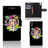 B2Ctelecom Schutzhülle für HTC Desire 628 Lederhülle Lion Farbe Männer