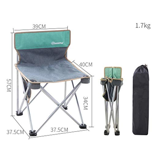 ABDOMINAL WHEEL Silla de Camping Ultraligero Plegable con Bolsa de Transporte, para Senderismo, Viaje, Pesca, Playa, Jardin, Camping, Barbacoa
