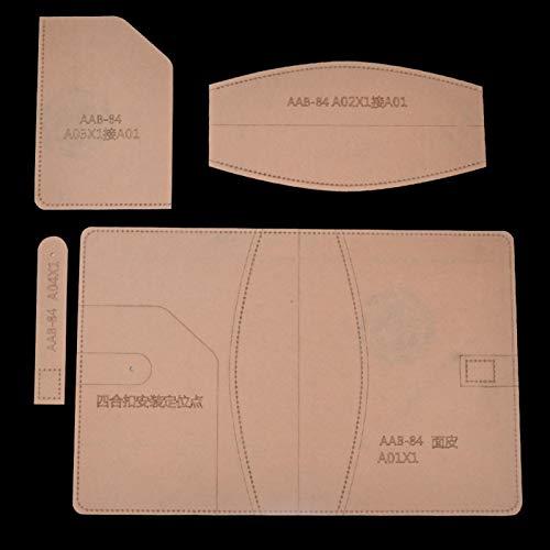 Brieftasche Acrylschablone Klare Acrylschablone, Brieftaschenwerkzeuge für das Lederschneiden