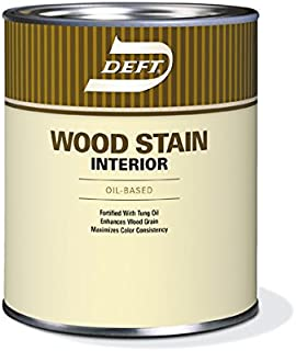 Interior Wood Stain, Golden Oak Color, 1 Quart, Oil Based, Wood Stain, Deft