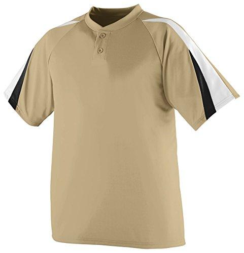 Augusta Sportswear Men'S Power Plus Baseball Jersey L Vegas Gold/White/Black