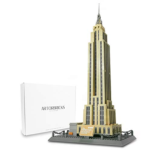 ArtorBricks Architectural Empire State Building Large Collection Building Set Model Kit and Gift for Kids and Adults , Compatible with Lego (1995 Pieces)