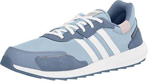 adidas Women's Retrorun Running Shoe, Sky Tint/White/Blue, 8.5