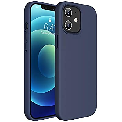 Miracase Compatible with iPhone 12 Case and iPhone 12 Pro Case 6.1 inch(2020),Liquid Silicone Gel Rubber Full Body Protection Shockproof Drop Protection Case(Navy Blue)