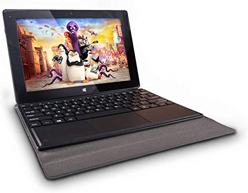 NOT SUITABLE FOR 11.6' - 10 inch Docking Case with Keyboard by Fusion5 - Tablet Case for 10' Windows 10 Tablet 2G 32G and 4G 64G Tablets Only - Windows Tablet Case