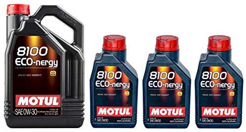 Motul 8100 Eco-nergy 0W30 volledig synthetische motorolie Volvo VCC95200377, 8 liter