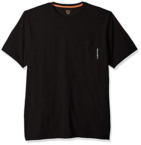 Timberland Herren T-Shirt PRO Base Plate Blended Short Sleeve Tee - Schwarz - Groß