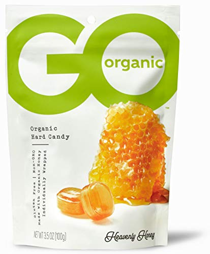 GoOrganic Organic Hard Candies Honey 35 Ounce Bag Pack of 6