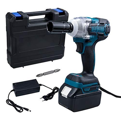 Práctico Llave eléctrica sin escobillas 18V llave de impacto zócalo 9000mAh LI Batería Taladro de mano Instalación 1/2 Herramienta de la llave de la llave fácil de usar