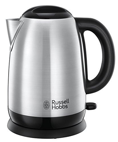 Russell Hobbs Wasserkocher, Adventure, 1,7l, 2400W, Schnellkochfunktion, Edelstahl, herausnehmbarer Kalkfilter, optimierte Ausgusstülle, Füllmengenmarkierung, Teekocher 23912-70