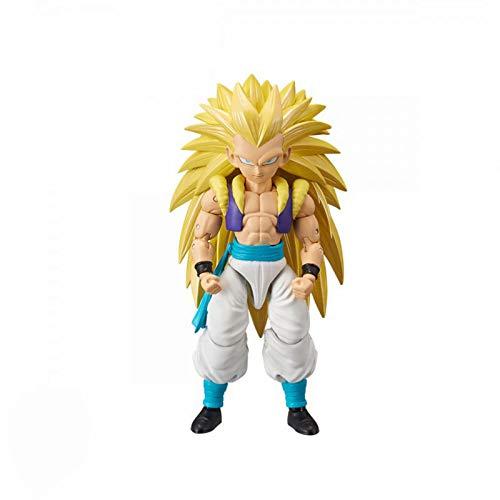 Yzoncd Dragon Star Dragon Ball Z Gotenks Ssj3 Movable PVC Figura De Accion Modelo Juguetes DBZ Super Saiyan 3 Figuras 14Cm