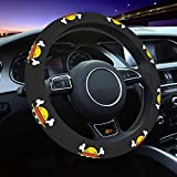 Ndort One Piece Anime Steering Wheel Cover Neoprene Breathable, Anti-Slip,Warm in Winter and Cool in Summer,Universal 15 Inch