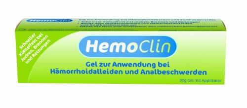 HemoClin Hämorrhoiden-Gel gegen Jucken, Brennen und Reizungen - zur Behandlung, zur Vorbeugung - Hämorrhoidengel mit schnellem Kühleffekt - Tube, 30 g