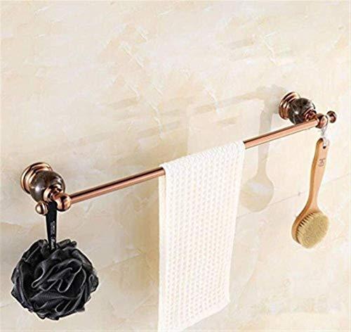 LXGANG High-end Holder Towel Bars Rose gold Towel Shelf jade Base Bathroom Shelf Shower Wall Mount Bathroom Accessories Home Decoration store Bathroom Shelves 60cm Bathroom Shelves
