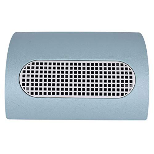 Aspirateur Manucure Outil réglable de poussière de vitesse de salon de clou 3 oreiller de main d'aspirateur de bureau de fan de double usage avec le sac à poussière 110v / 220v,blue