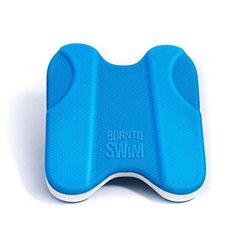 BornToSwim Pro Schwimmbrett Pullkick Pull Buoy und Kickboard Trainingshilfe für Kinder und Erwachsene, Blau, 30x27x4 cm