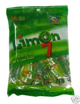 Limon 7 Salt & lemon powder 100pc bag 7oz by MEXICAN CANDY