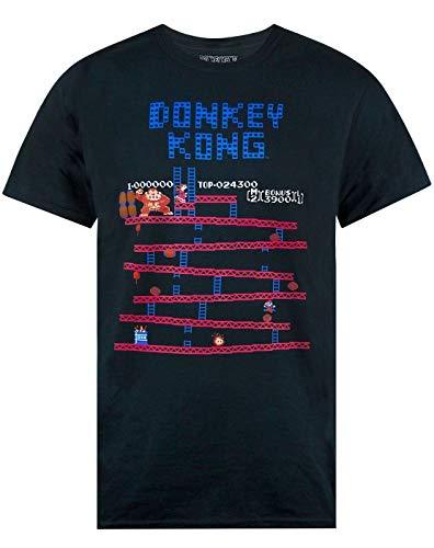 Donkey Kong Nintendo Camiseta Super Mario Juego Retro de los Hombres Adultos