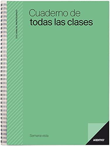 Additio P222 Cuaderno de Todas las Clases SV Evaluación + Planificación Semanal Verde