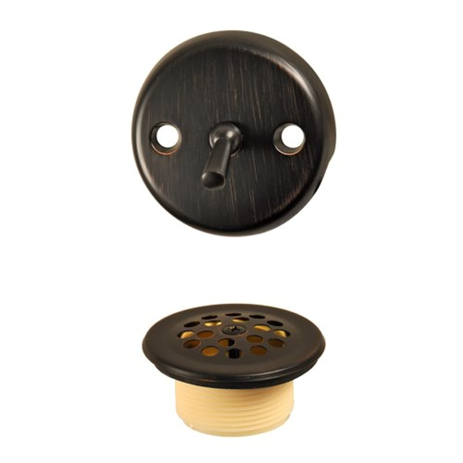 DANCO Trip Lever Tub and Bath Drain Trim Kit with Overflow Plate, Oil Rubbed Bronze, 1-Pack (10580)