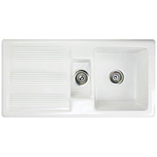 RAK Ceramics New Gourmet Sink 1 Reversible 1.5 Bowl White Ceramic Kitchen Sink