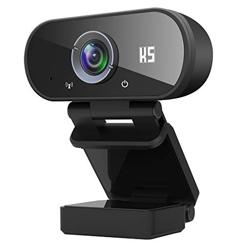 Konnek Stein Webcam with Microphone, HD 1080P Computer Camera with Tripod, Plug and Play, Streaming Webcam for Video Calling, Conferencing, Compatible with Windows 10, 8, 7, XP and Mac OSX