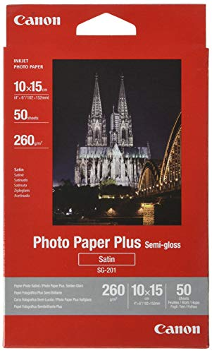 Canon SG-201 Fotopapier Plus Seidenglanz, matt (260 g/qm), 4x6, 50 Blatt
