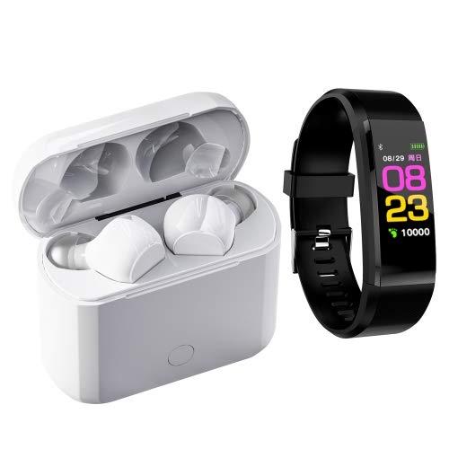 BLAUPUNKT MP1520-112 Armband-Set mit Mango-Ohren, kabellos, Bluetooth, kompatibel mit iOS und Android, Weiß