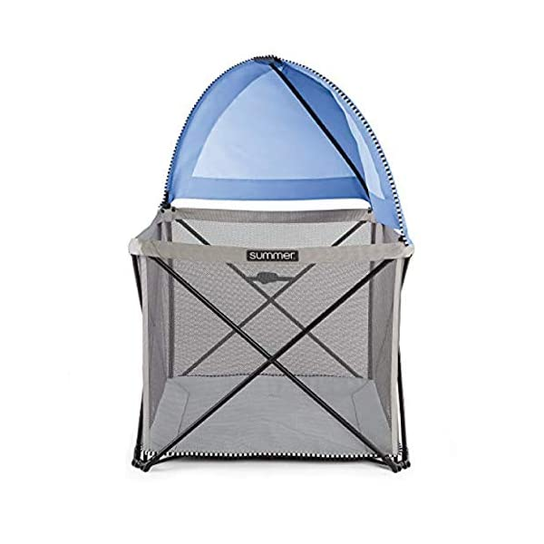 Summer Pop 'n Play SE Cube Playard, 4-Sided, Sweet Life Edition, Blue Raspberry Color – Full Coverage Play Pen for Indoor and Outdoor Use – Fast, Easy and Compact Fold