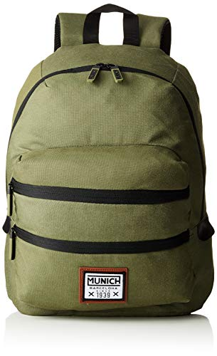 Munich Backpack PACHT II, Mochila Unisex Adulto, Verde (Khaki), 18x40x33 cm (W x H x L)